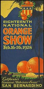 Orange Show San Bernandino Ad Reproduction Metal Sign FREE SHIPPING