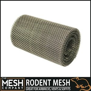Heavy Duty Stainless Steel Rodent Airbrick Vent Soffit Wire Mesh Rolls UK Made