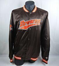 Vintage Rare Cleveland Browns Jacket 2XL Stitched Logo Athletic Game Day NFL