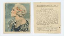 1930s Godfrey Phillips Tobacco Card = Shots From The Films = Elizabeth Bergner