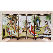 Décoration chinoise mini paravent chinois, motif dames chinoises