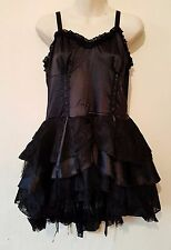 New Living Dead Souls Dress  Mini Black Silk and Net Dress in Medium Size RRP£53