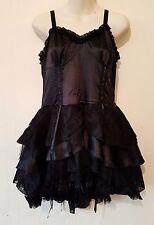 New Living Dead Souls Dress  Mini Black Silk and Net Dress in Medium Size RRP£53