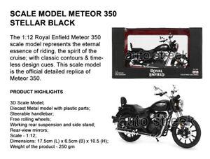 Genuine Royal Enfield Meteor 350 Stellar Black 3D Scale Model