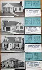 Kenbridge, VA 1948 Advertising Blotters - SET OF FOUR w/Home Plans - Fuel & Feed