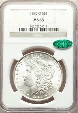 1880-O NGC + CAC MS63 Gorgeous Bright White Morgan Dollar BU GEM PQ Better Date
