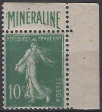"FRANCE N° 188 A "" SEMEUSE 10c  BANDE PUBLICITAIRE  MINERALINE "" NEUF xx TTB N387"