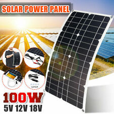 100W Mono Solar Panel USB 12V Flexible For Car RV Boat Charger