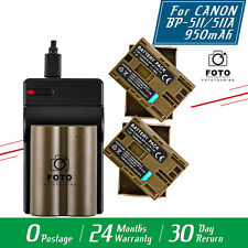 2x Battery+Charger for Canon EOS 5D 10D 20D 30D 40D 50D 300D BP-511A BP-511 UK