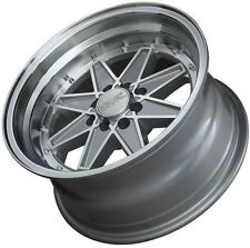 15X8 XXR538 WHEELS 4X100/114.3 +0MM MACHINED / SILVER RIM FITS CABRIO CARRADO