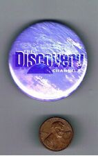 """1990 The Discovery Channel 1.75"""" Advertising Pinback Button Cable TV Television"""