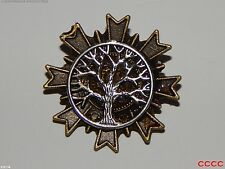 steampunk brooch badge silver tree of life Harry Potter LARP Abzeichen Brosche