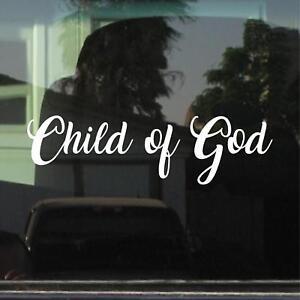 CHILD OF GOD VINYL DECAL / STICKER
