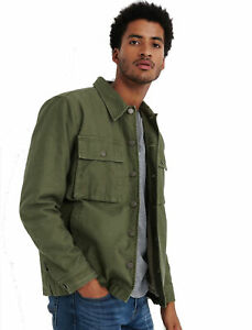 Lucky Brand Men's Sherpa Lined Field Jacket Small NWT Burnt Olive Button Front S