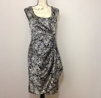 Suite 7 Dress Sz 12 Womens Sleeveless Black and White