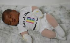 AA ethnic reborn baby cloth body ooak doll. Extremely poseable!