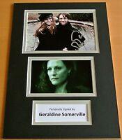 GERALDINE SOMERVILLE HAND SIGNED AUTOGRAPH A4 PHOTO DISPLAY HARRY POTTER & COA