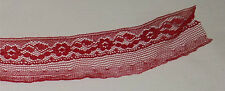"""10 Yards Red Colored Lace 1 1/2"""" wide Crafts Sewing Trim  Lace"""