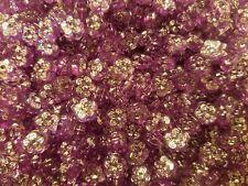 500 pcs Purple Rhinestone Flower Shaped Diamonettes Plastic Craft Jewelry Beads