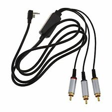 S5 AV TV Cable RCA Audio Video Cable for Sony PSP Slim 2000 3000 Television Y3q5