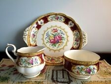 Royal Albert Lady Hamilton Creamer/Sugar and Cake Plate- Made in England