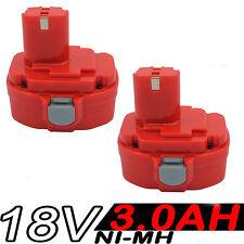 2x 18V 3.0AH NI-MH Battery For Makita 1822,1823,1833,1834,1835,1835F,PA18,4334D