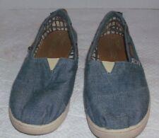 Toms  Size  Y6 Adult 8.5 Espadrilles Blue Rubber Soles