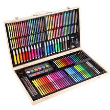Wasserfarben Zeichenset für Kinder-inkl Wachsmalstifte Ölpaste 208pcs Malset