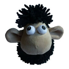 Animate Large Noodle Black Sheep Squeaky Dog Toy | Soft Plush Funny Cute Animal