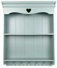 Pretty Duck Egg Blue shabby / chic Carved heart shelf / Shelving unit WALL UNIT