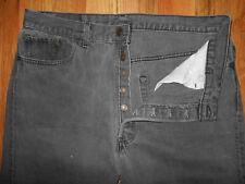 Levis 501 Button Fly Jeans Mens 38x34 Dungarees Blue Denim Pants 5J27