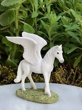 Miniature Dollhouse FAIRY GARDEN Figurine ~ Mini White Pegasus Flying Horse NEW