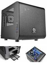PC Gaming Case Computer Mini ITX Cube Thermaltake Core V1 Chassis Compact Black