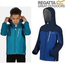 Regatta Childrens Junior Highton Waterproof Breathable Hooded Jacket Shell