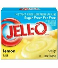 Jell-O Sugar Free Lemon Pies Desserts Instant Pudding Lemon Jello SHELF SALE
