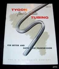 TYGON TUBING 1954 U S STONEWARE COMPANY PICTORIAL PROMO BOOKLET PLASTICS