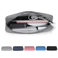 Portable Travel Storage Bag USB Charger Case Data Cable Electronics Organizer