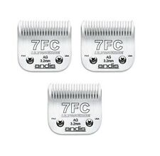 3 Pack De Andis 7fc Clipper Blades 3.2 mm, de 1/8 ""