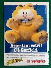 VV9 Pubblicità Advertising Clipping 19x13 cm (80s) GARFIELD PUPAZZO VERKERKE