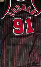 Chicago Bulls NBA 50th Anniversary Signed 96/97 ProCut Jersey Dennis Rodman 1on1