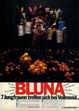 BLUNA-7-JUNGFRAUEN-1971-Reklame-Werbung-genuine Advert-La publicité-nl-Versand