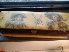 Antique Celluloid & Wood Dresser/Glove Box