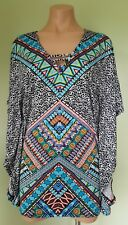 92d6b21477534 Bar III tribal vibes multi color beach cover up size XS