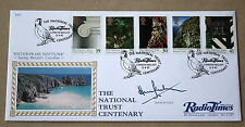 NATIONAL TRUST 1995 BENHAM FDC RADIO TIMES HS SIGNED BY TV PRESENTER HUGH SCULLY