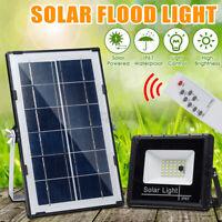 50W LED Lampione Stradale Faro Pannello Solare Sensore Luce Faretto Telecomando