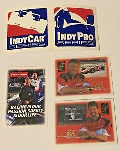2007 Indy Car & Pro Series Vinyl Stickers + Bonus Mario & Michael Andretti Cards