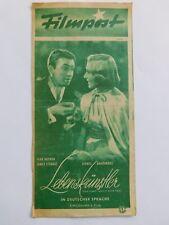 "Filmpost 92 ""Lebenskünstler""Jean Arthur & James Stewart,Vintage cinema program"