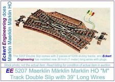 "EE 5207 NEW Marklin HO ""M"" Track Double Slip Original Blue Box (OBX) 5207N"