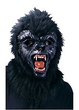 Gorilla Ape Full Overhead Mask With Teeth Adult Costume Accessory