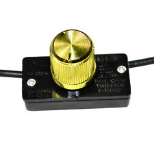 HQRP Hi-Lo-Off Rotary Dimmer Halogen Tungsten Lamp Light Switch 125V 6A